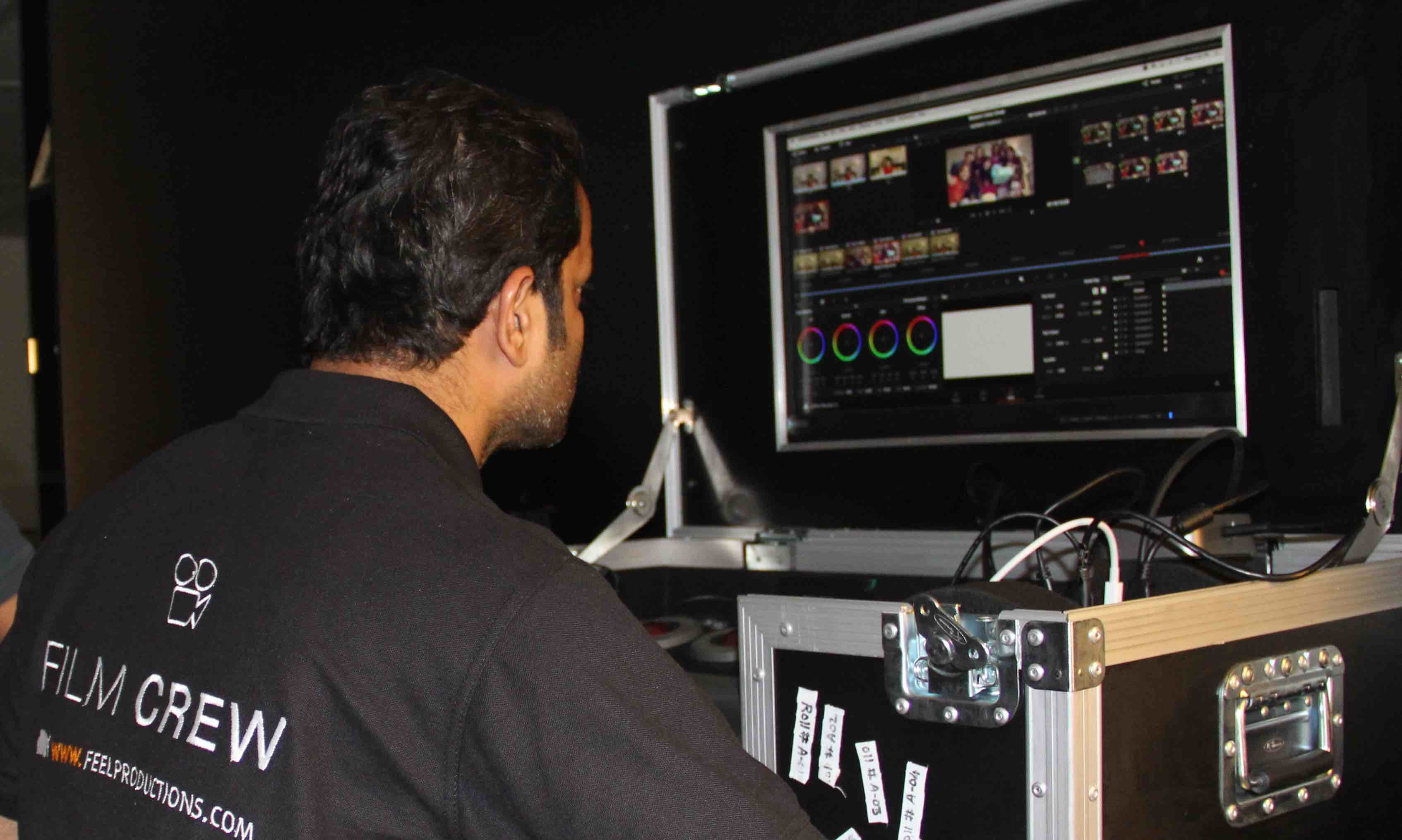 TV Series/Dailies Color Grading on set in Dubai